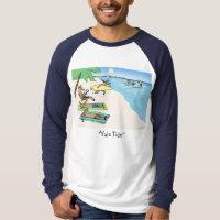 """Yule Tide"" - Santa and Reindeer Beach Vacation T-Shirt"