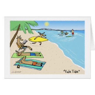 """Yule Tide"" Stationery Note Card"