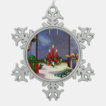 Yule Time Reflections Holiday Art Ornaments
