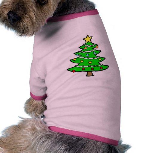 Yule tree doggie shirt