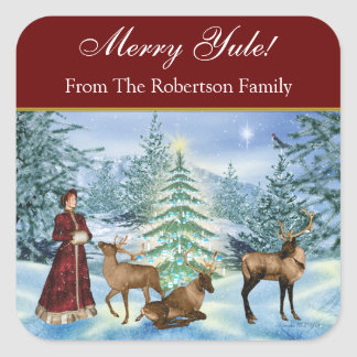 Yule Victorian Personalized Gift Stickers