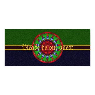 Yule Wheel Kaleidoscope Mandala Card