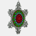 Yule Wheel Kaleidoscope Mandala Ornaments