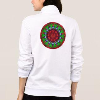 Yule Wheel Kaleidoscope Mandala Printed Jackets