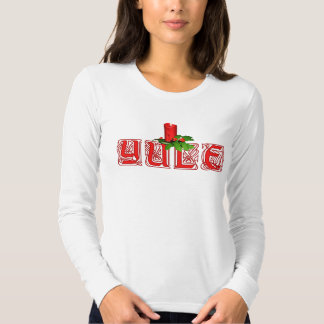 Yule with Candle Tshirt