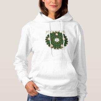 Yule Wreath Ladies Hoodie