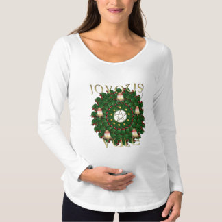 Yule Wreath Maternity Long Sleeve Shirt
