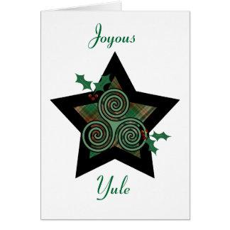 Yule - Yule feliz Tarjeta De Felicitación