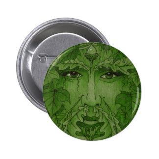 yuleking green pinback button