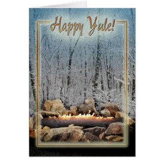 Yuletide Burning Log(: Greeting Card