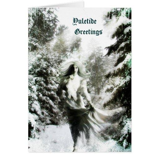 Yuletide Goddess Card