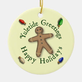 Yuletide Greetings Gingerbread Man Ornament