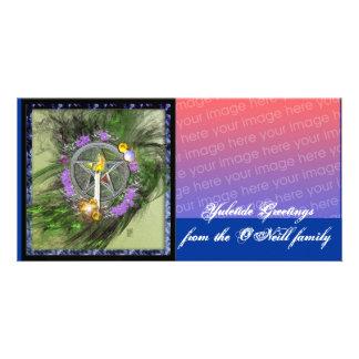 yuletide greetings photo greeting card