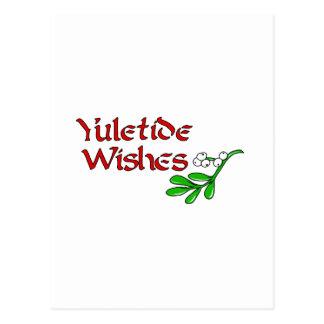 Yuletide Greetings Postcard