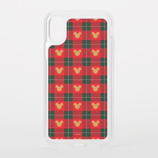 Yuletide Joy | Mickey Christmas Plaid Pattern Speck iPhone XS Case