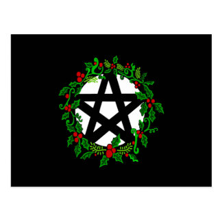 Yuletide Pentacle Postcard