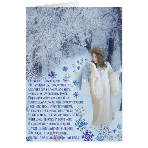 Yuletide Poem Greeting Cards