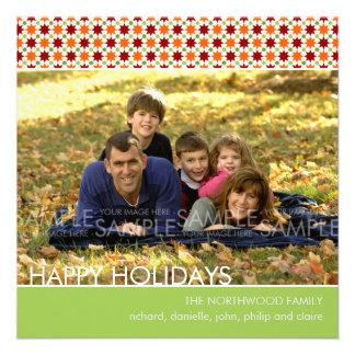 Yuletide Stars Christmas Photo Card Invite