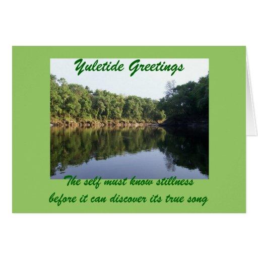 Yuletide Stillness Greeting Card