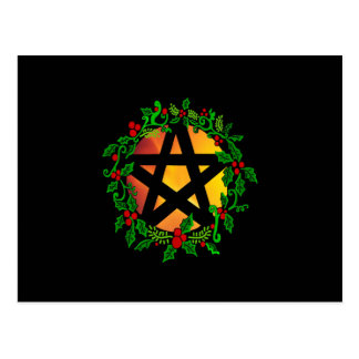 Yuletide Sun Pentacle Postcard