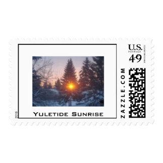 Yuletide Sunrise Postage Stamp