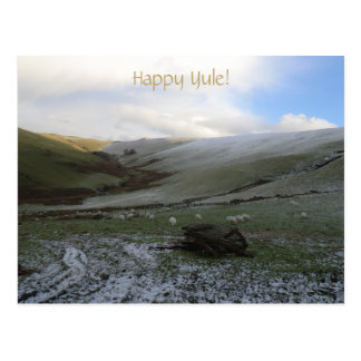 Yuletide Welsh Winter Postcard