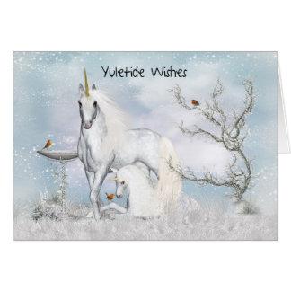 Yuletide - Yule tarjeta de felicitación con unico