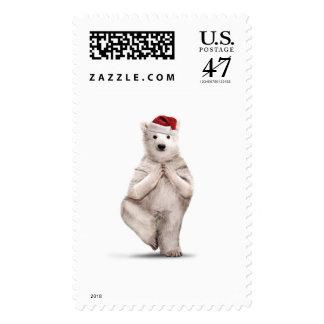 Yuletide Zoo Yoga Christmas Stamp
