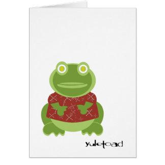 yuletoad greetings! greeting card