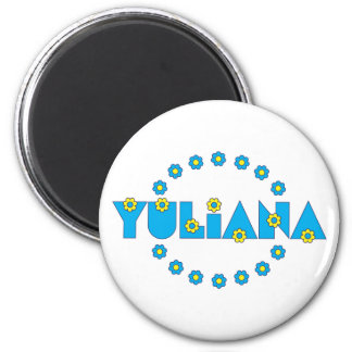 Yuliana in Flores Blue Magnet