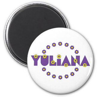 Yuliana in Flores Purple Magnets