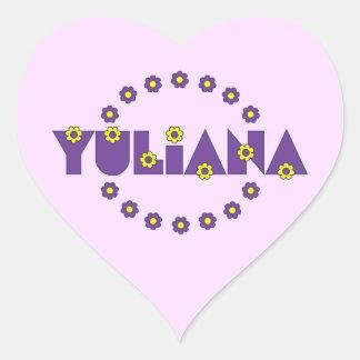 Yuliana in Flores Purple Heart Sticker