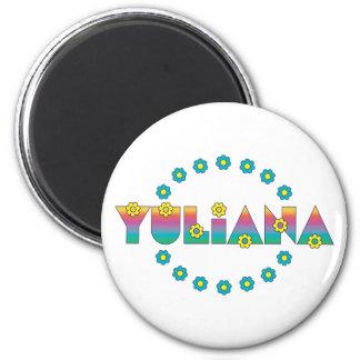 Yuliana in Flores Rainbow Refrigerator Magnet