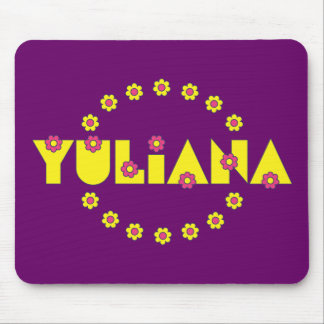 Yuliana in Flores Yellow Mouse Pad