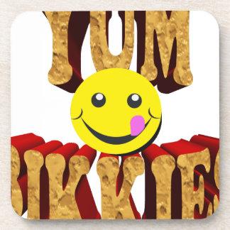 yum bikkies smiley coaster