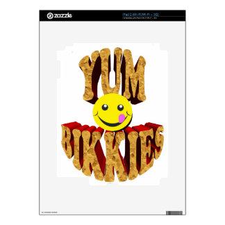 yum bikkies smiley decal for iPad 2