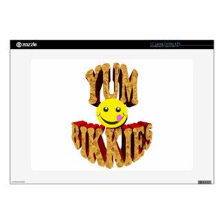 yum bikkies smiley decal for laptop