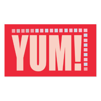 YUM! Business Card for catering, chefs, bakers