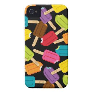 ¡Yum! Caso del iPhone del Popsicle (negro) iPhone 4 Case-Mate Carcasa