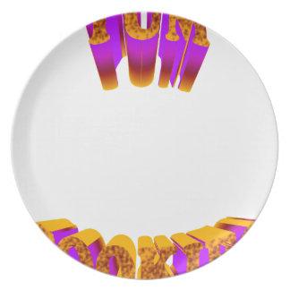 yum cookies plate