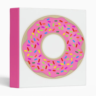 Yum Frosted Donut 3 Ring Binder