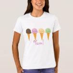 YUM Ice Cream Cones T-Shirt