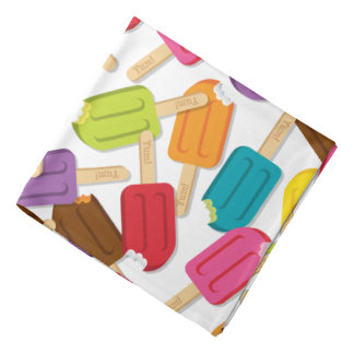 ¡Yum! Pañuelo del Popsicle - blanco Bandana