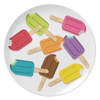 ¡Yum! Placa del Popsicle Plato Para Fiesta