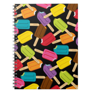 Yum! Popsicle Journal (Black) Spiral Note Books