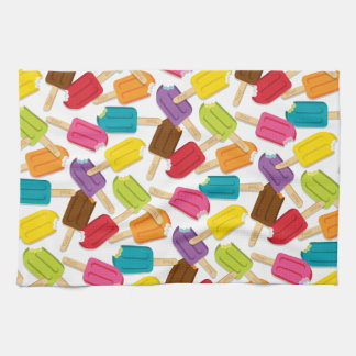 Yum! Popsicle Kitchen Towel — White