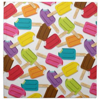 Yum! Popsicle Napkins Set/4 — White