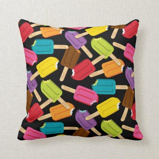 Yum! Popsicle Pillow — SQUARE (Black)
