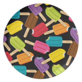 Yum! Popsicle Plate Style 2 (Black)