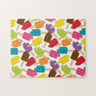 Yum! Popsicle Puzzle (White)